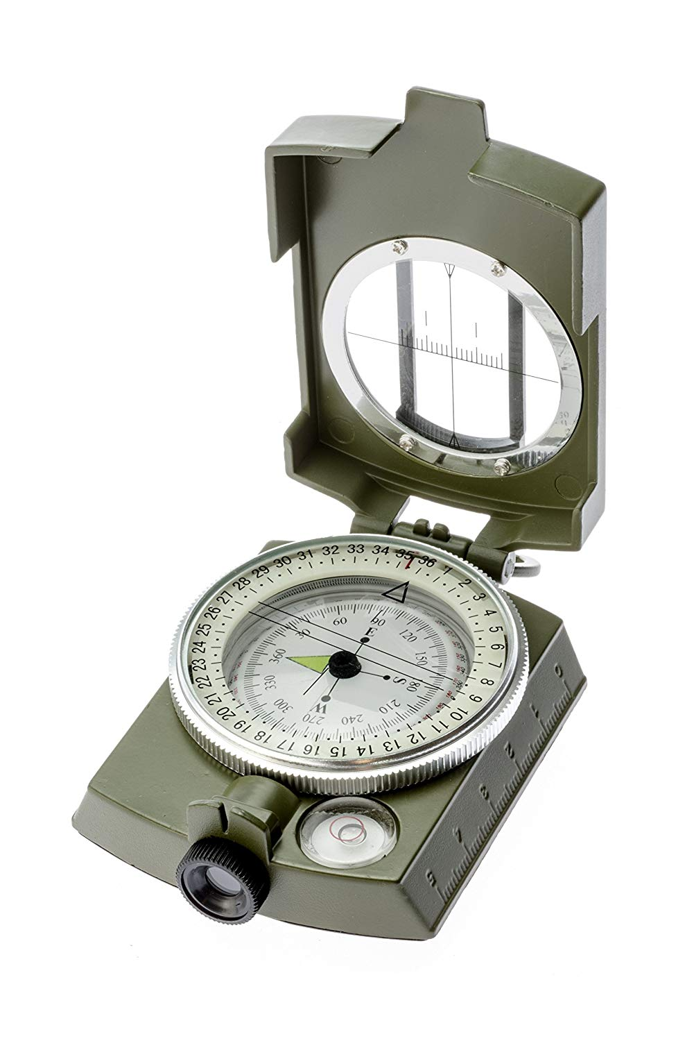 SE CC4580 Military Lensatic and Prismatic Sighting Survival Emergency Compass