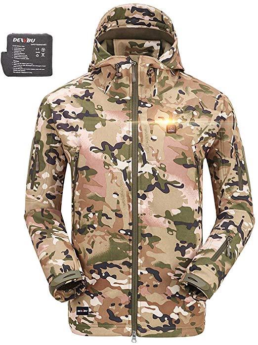 DEWBU Men's Soft-Shell Heated Jacket